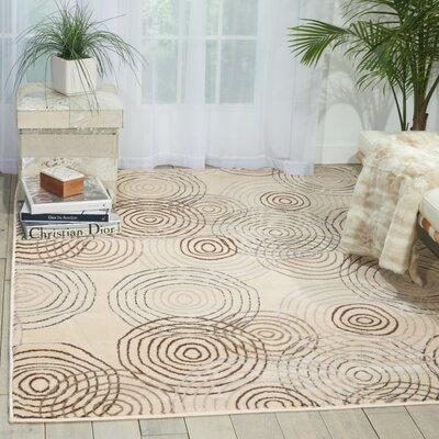 Densmore Geometric Ivory Area Rug Rug Size: 53 x 73