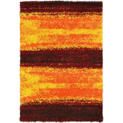 Suzanne Yellow/Red/Orange Area Rug Rug Size: 4 x 6