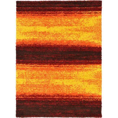 Suzanne Yellow/Red/Orange Area Rug Rug Size: 8 x 114