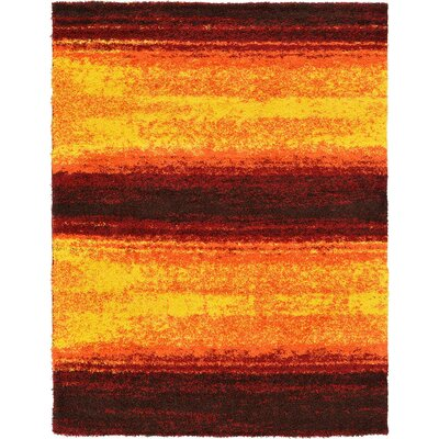 Suzanne Yellow/Red/Orange Area Rug Rug Size: 9 x 12
