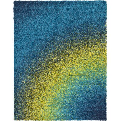 Suzanne Blue/Yellow Area Rug Rug Size: 9 x 12