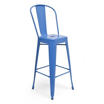 Louisa 30 Bar Stool Upholstery: Blue