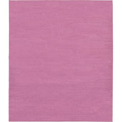 Hugh Purple Area Rug Rug Size: 82 x 910