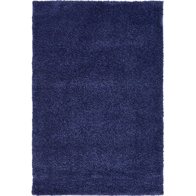 Sydnee Navy Blue Area Rug Rug Size: Rectangle 5 x 77