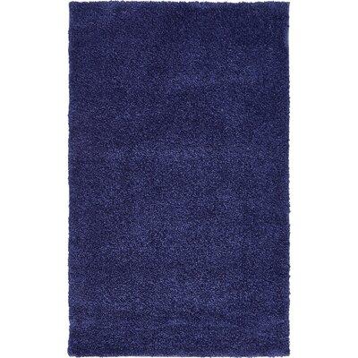 Sydnee Navy Blue Area Rug Rug Size: 33 x 53