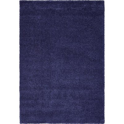 Sydnee Navy Blue Area Rug Rug Size: Rectangle 5' x 7'7