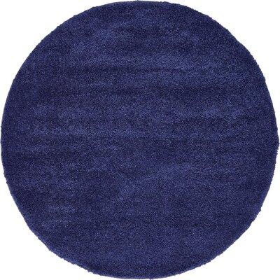 Sydnee Navy Blue Area Rug Rug Size: Round 6