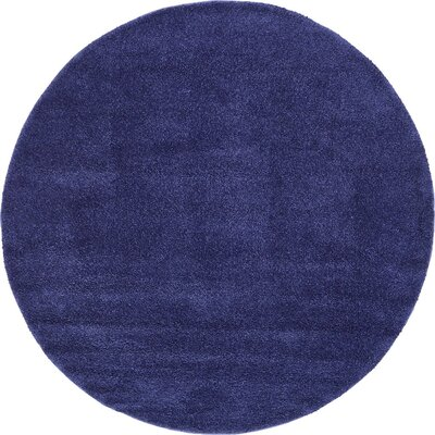 Sydnee Navy Blue Area Rug Rug Size: Round 8