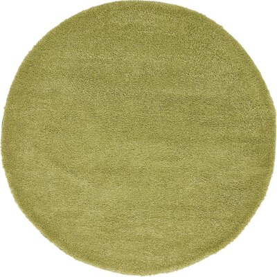 Sydnee Light Green Area Rug Rug Size: Round 6'