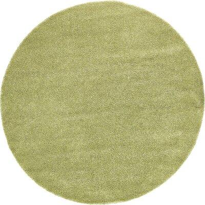 Sydnee Light Green Area Rug Rug Size: Round 8