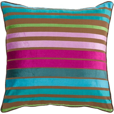 Destry Pillow Cover Size: 22 H x 22 W x 0.25 D, Color: BluePink