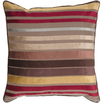 Destry Pillow Cover Size: 22 H x 22 W x 0.25 D, Color: Brown