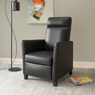 Yasmin Manual Recliner Upholstery: Black