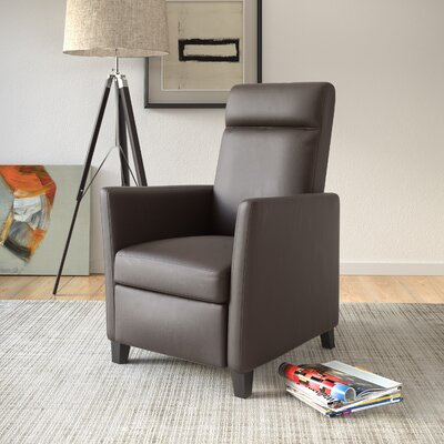 Yasmin Manual Recliner Upholstery: Brown