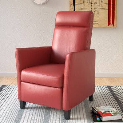 Yasmin Manual Recliner Upholstery: Red
