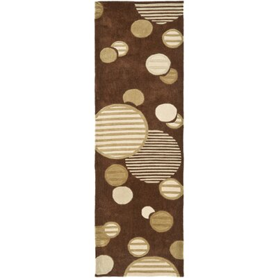 Charlize Hand-Tufted Brown Area Rug Rug Size: Rectangle 26 x 4