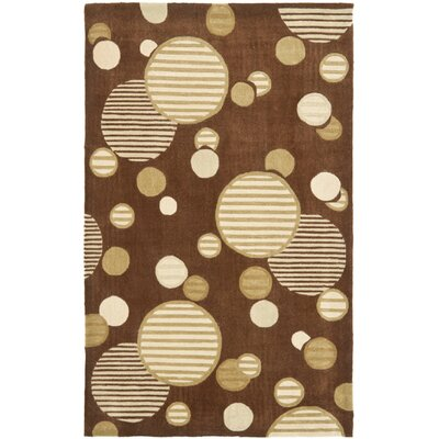 Charlize Hand-Tufted Brown Area Rug Rug Size: Rectangle 9 x 12