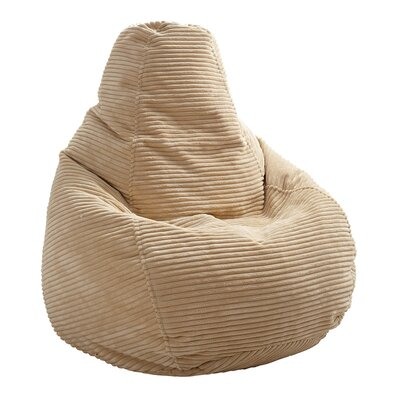 Polystyrene Bean Bag Chair Upholstery: Beige