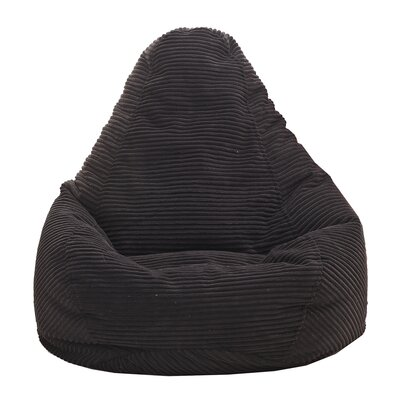Polystyrene Bean Bag Chair Upholstery: Black