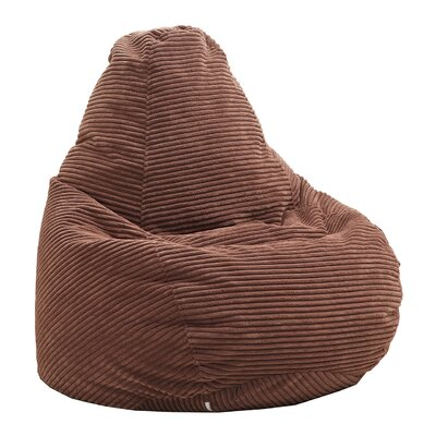 Polystyrene Bean Bag Chair Upholstery: Dark Brown