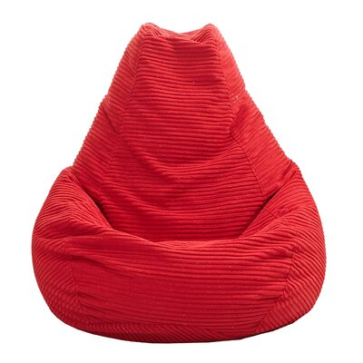 Polystyrene Bean Bag Chair Upholstery: Red