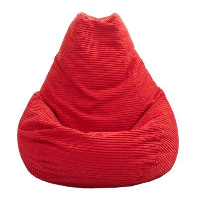 Polystyrene Bean Bag Chair Upholstery: Red