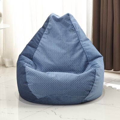 Traditional Polyester Bean Bag Chair Upholstery: Blue