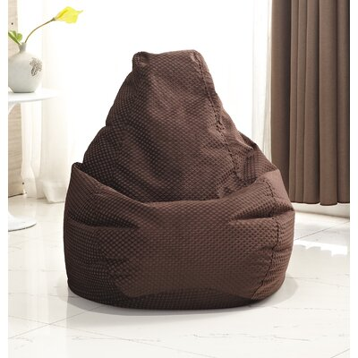 Traditional Polyester Bean Bag Chair Upholstery: Dark Brown