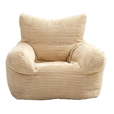 Solid Color Polystyrene Bean Bag Chair Upholstery: Beige