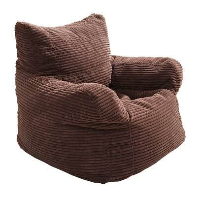 Solid Color Polystyrene Bean Bag Chair Upholstery: Dark Brown