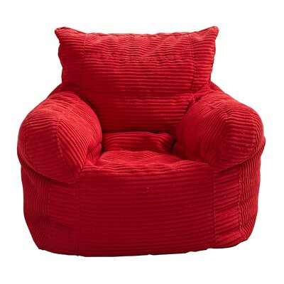 Solid Color Polystyrene Bean Bag Chair Upholstery: Red