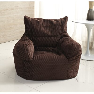 Small Polystyrene Bean Bag Chair Upholstery: Dark Brown