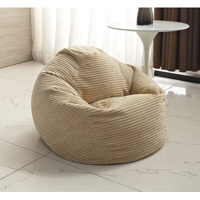 Medium Polystyrene Bean Bag Chair Upholstery: Beige