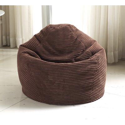 Medium Polystyrene Bean Bag Chair Upholstery: Dark Brown