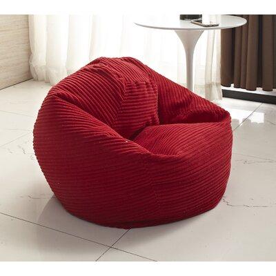 Medium Polystyrene Bean Bag Chair Upholstery: Red