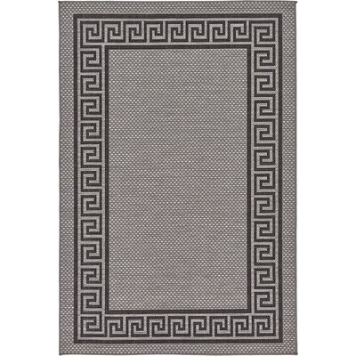 Hugh Gray Outdoor Area Rug Rug Size: 53 x 8