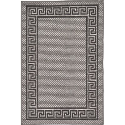 Kimble Gray Outdoor Area Rug Rug Size: Rectangle 33 x 5