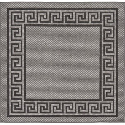 Lara Gray Outdoor Area Rug Rug Size: Square 6