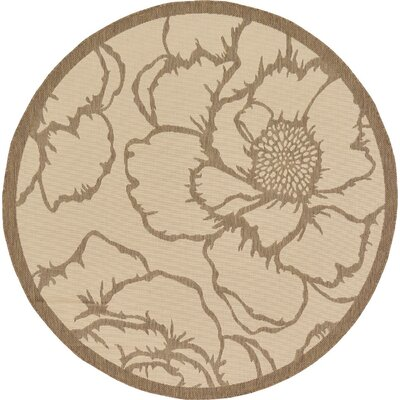 Souliere Beige Outdoor Area Rug Rug Size: Rectangle 8 x 114