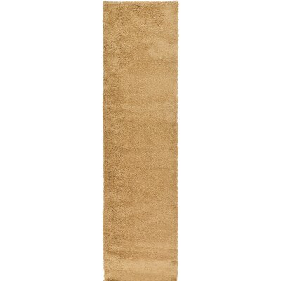 Goldie Tan Area Rug Rug Size: Runner 27 x 985