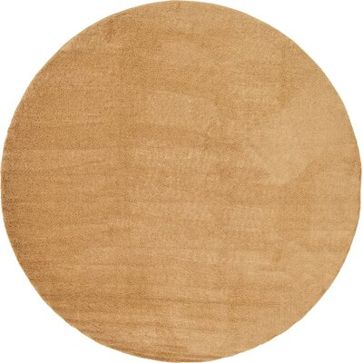 Goldie Tan Area Rug Rug Size: Round 13