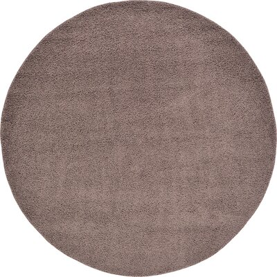 Goldie Brown Area Rug Rug Size: Round 8