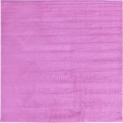 Aquino Light Violet Area Rug Rug Size: Square 13