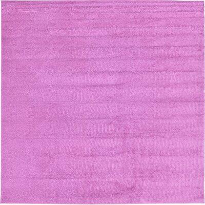 Aquino Light Violet Area Rug Rug Size: Square 6