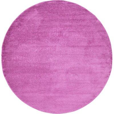 Aquino Light Violet Area Rug Rug Size: Round 13