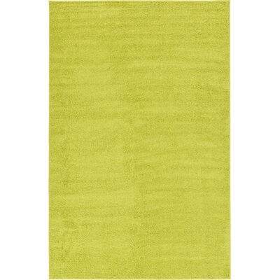 Goldie Moss Green Area Rug Rug Size: 106 x 165