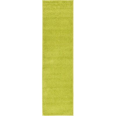 Goldie Moss Green Area Rug Rug Size: Runner 27 x 10