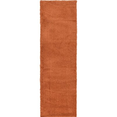 Goldie Terracotta Area Rug Rug Size: Runner 27 x 985