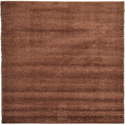 Goldie Bison Brown Area Rug Rug Size: Square 6