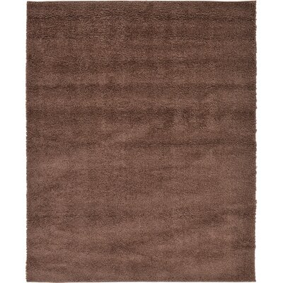 Goldie Bison Brown Area Rug Rug Size: 67 x 82